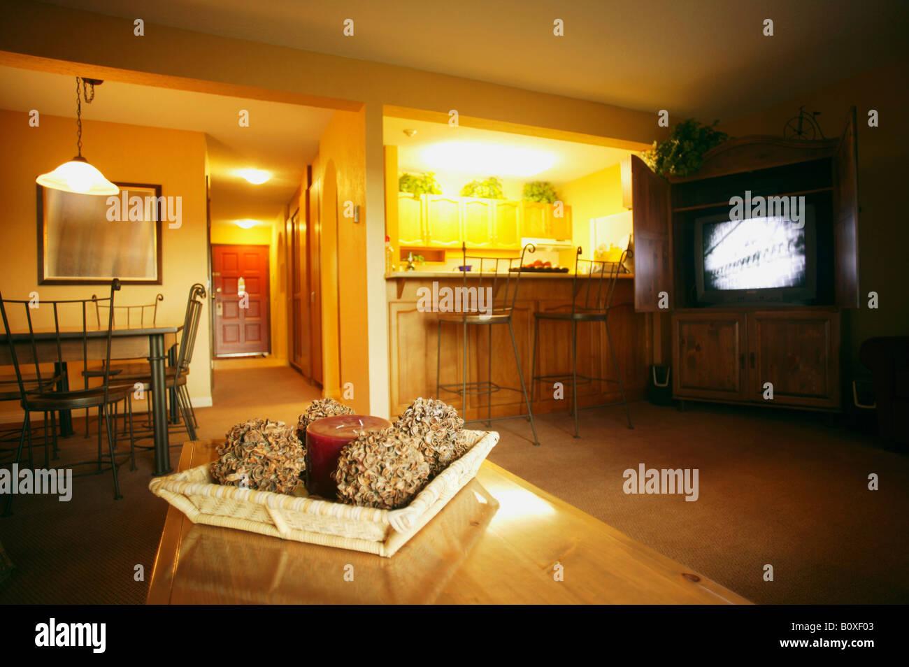 Warm family room Stock Photo