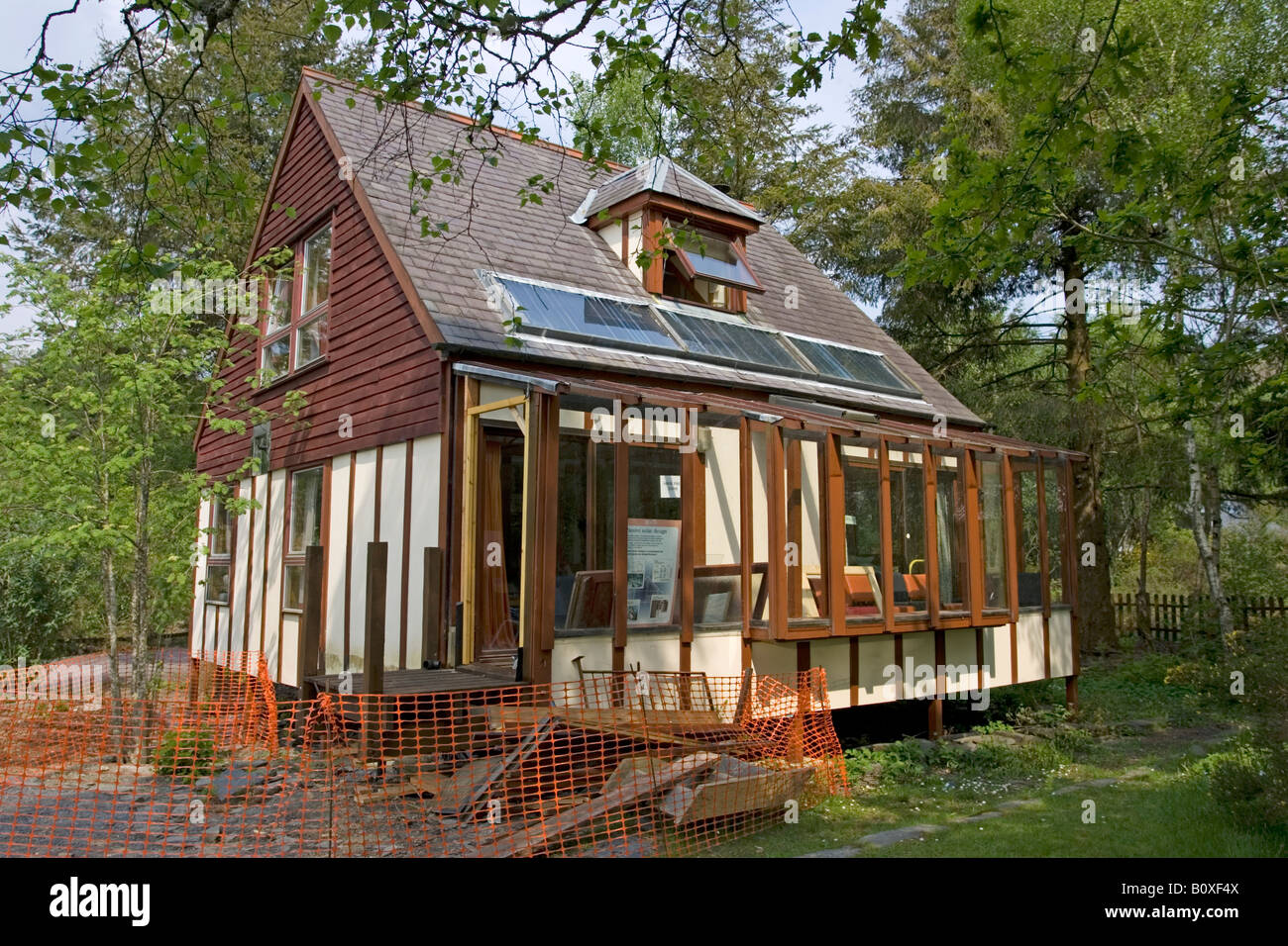 Self Build Wooden Sustainable House Centre For Alternative Technology  Machynlleth Wales UK