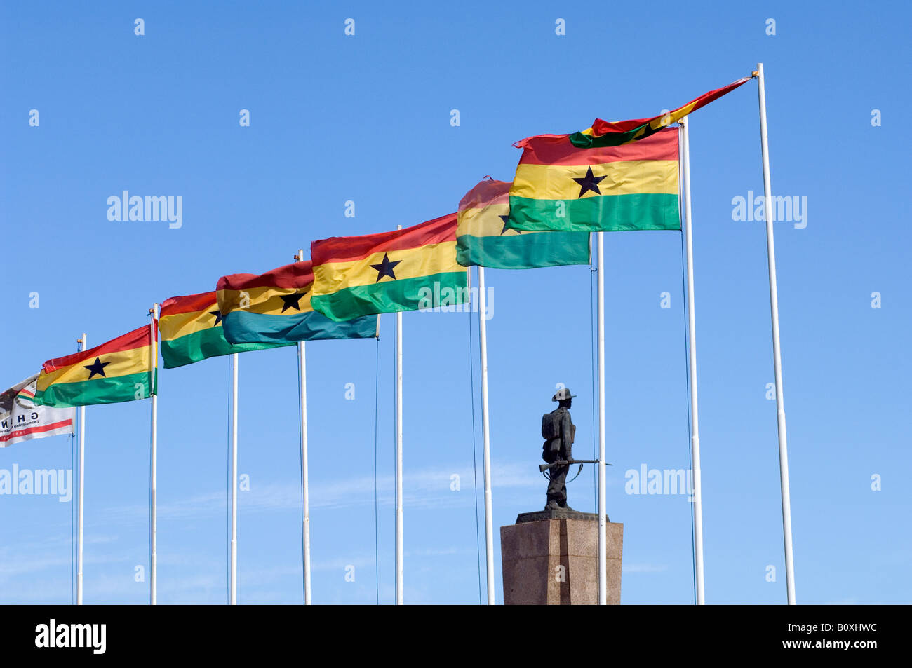 Statue of the unknown soldier, Independence Square, Accra, Ghana - Stock Image