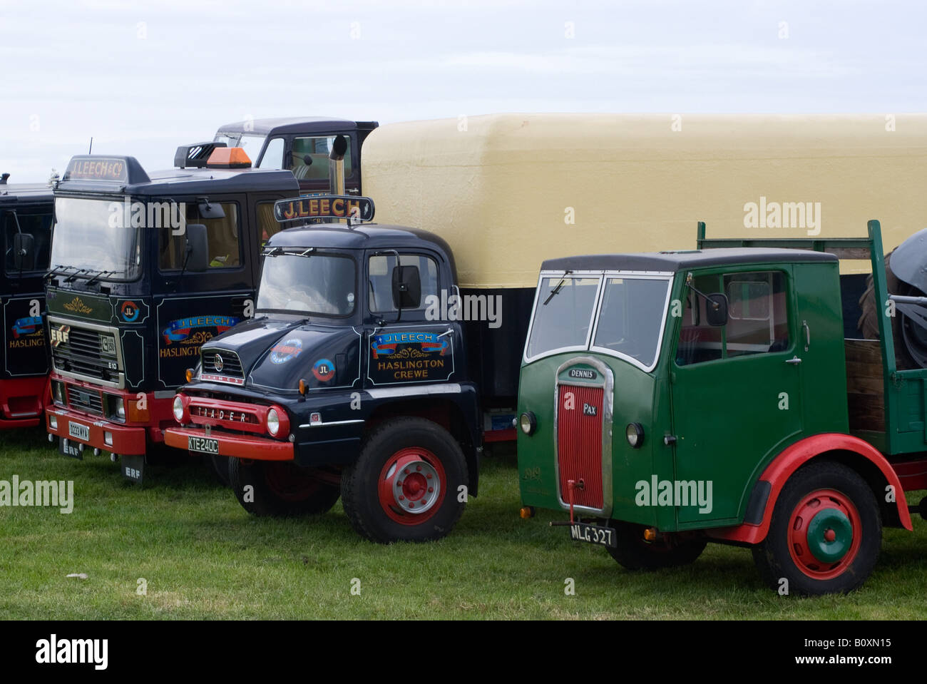 ERF E10 Tractor Unit with 1965 Ford Thames Trader and 1949 Dennis ...