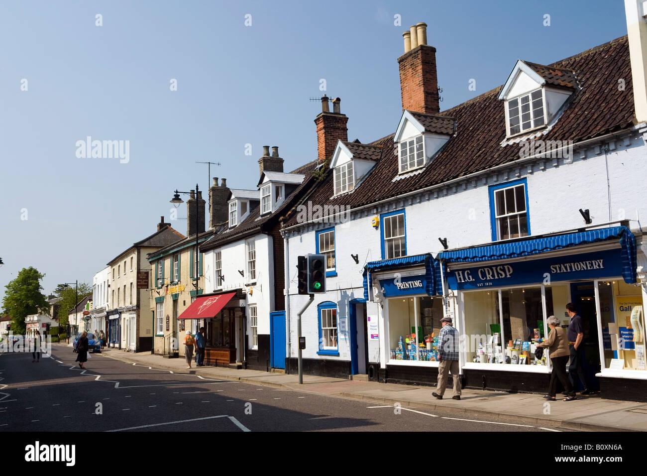 UK England Suffolk Saxmundham High Street Stock Photo