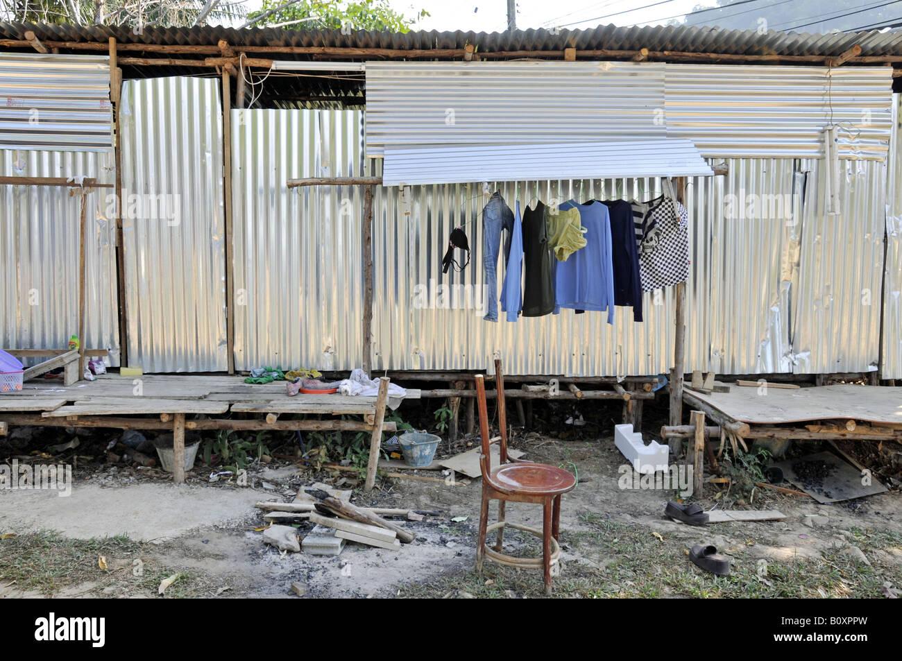 shanties of migrant worker, Thailand Stock Photo