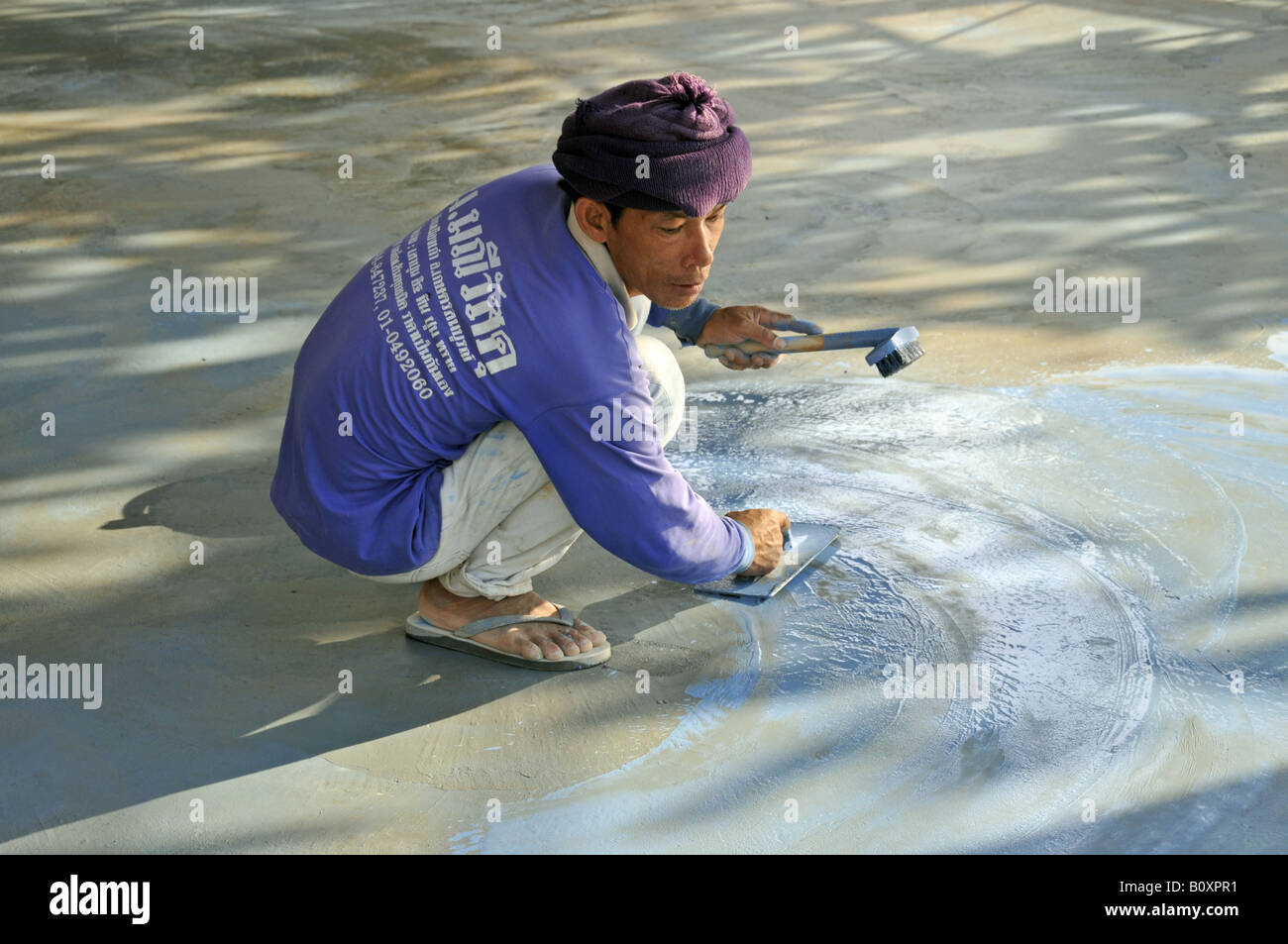 migrant worker, Thailand, Koh Chang Stock Photo