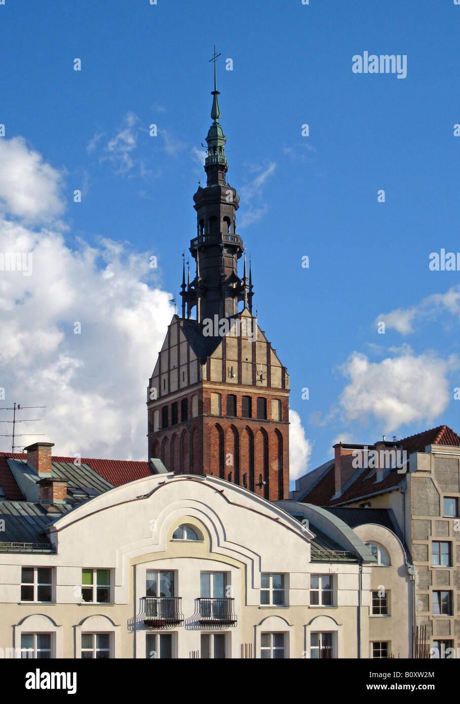 St. Nikolai church in the old town, Poland, Elblag Elbing Stock Photo