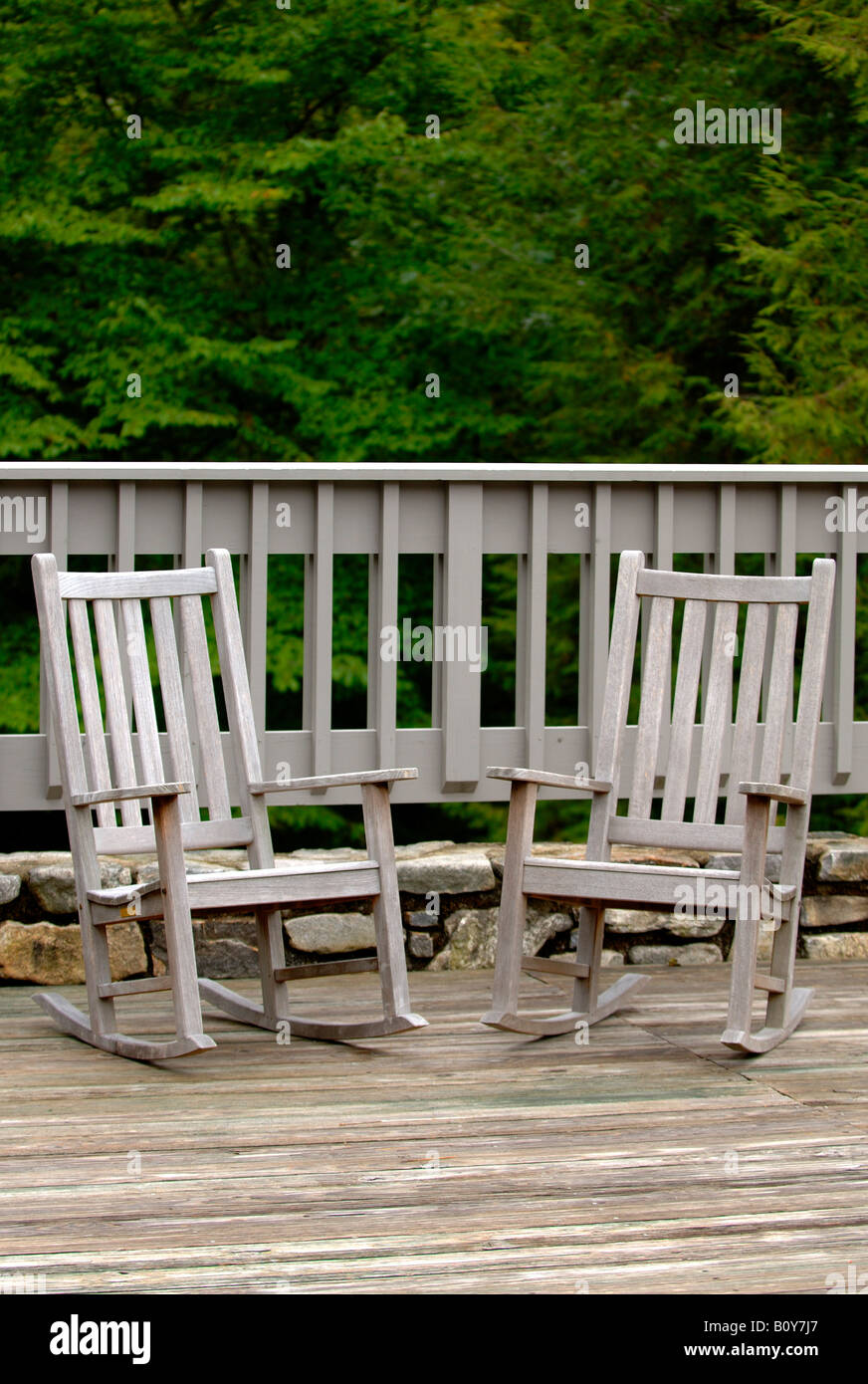Chairs on a deck - Stock Image