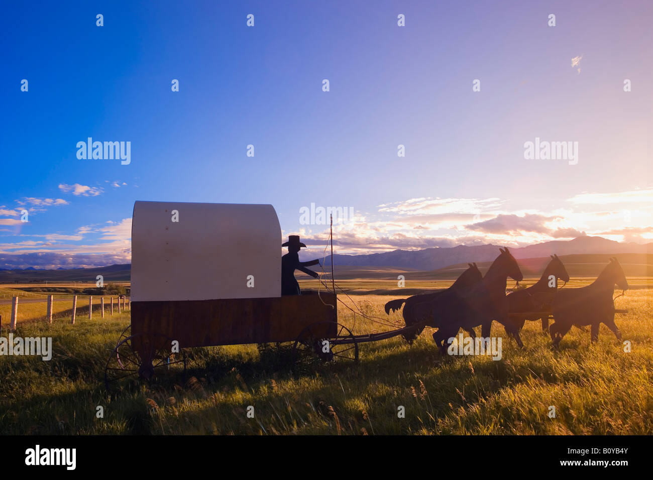 Travel by horse and carriage - Stock Image
