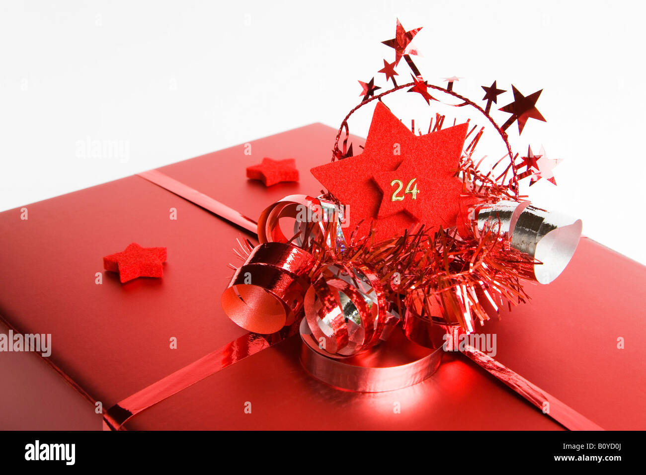 Christmas parcel, close up - Stock Image
