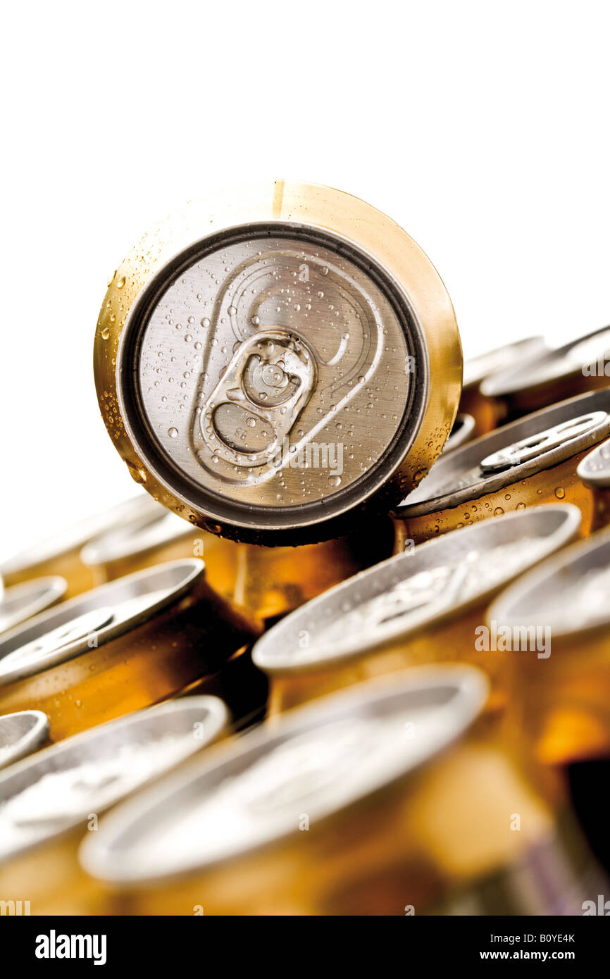 Beer cans - Stock Image