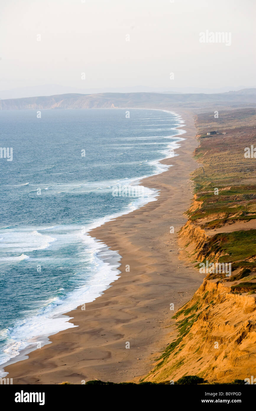 Point Reyes National Seashore California United States in evening light - Stock Image