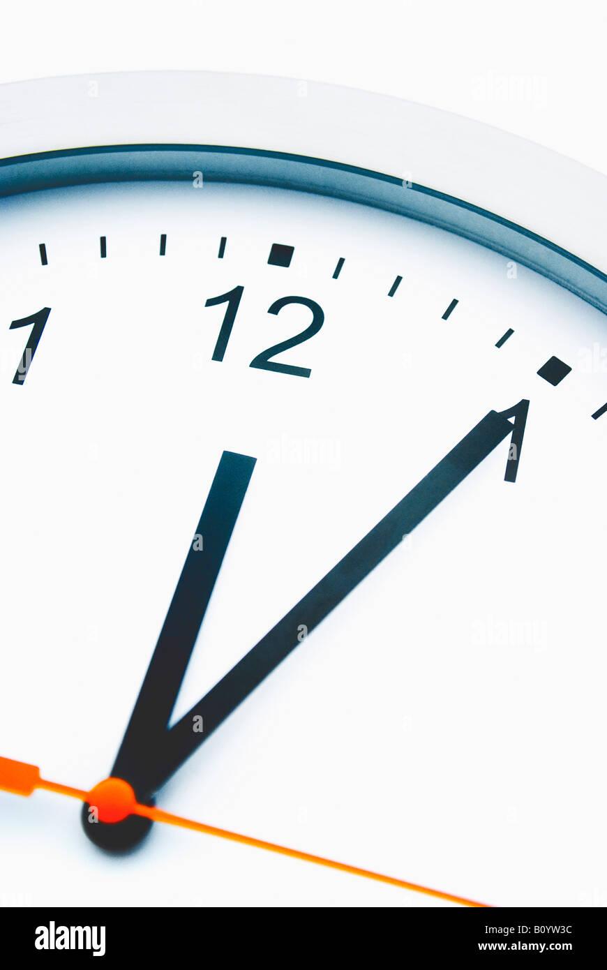 Clock face, close-up - Stock Image