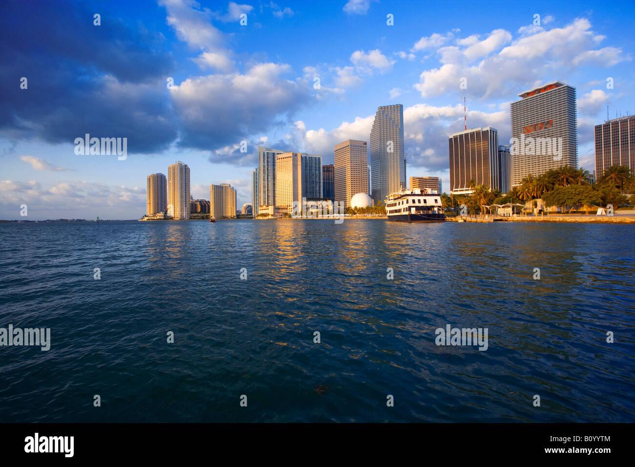 Miami skyline, Miami Florida, USA - Stock Image