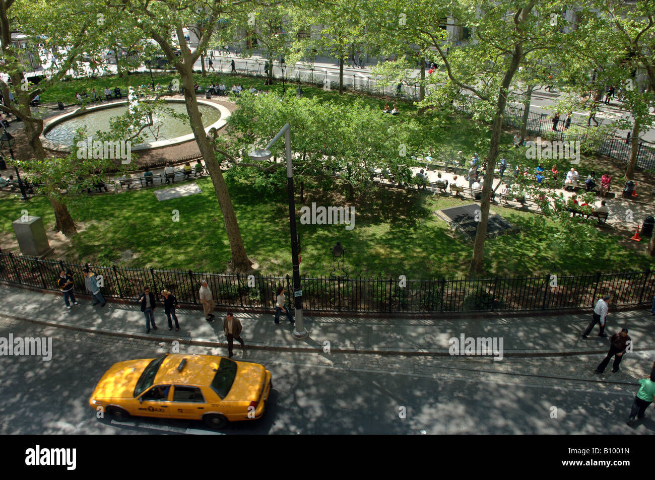 Buildings on Bowling Green park in New York City Photo Print