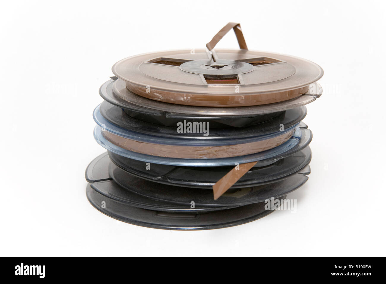 Small professional audio tape reels - Stock Image