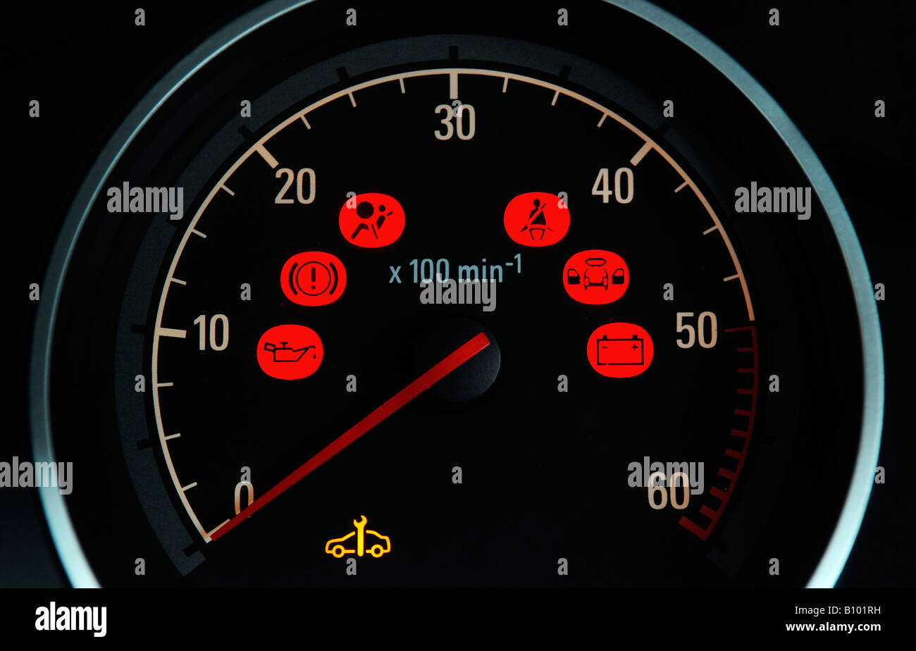 Dashboard Warning Lights Stock Photos Dashboard Warning Lights