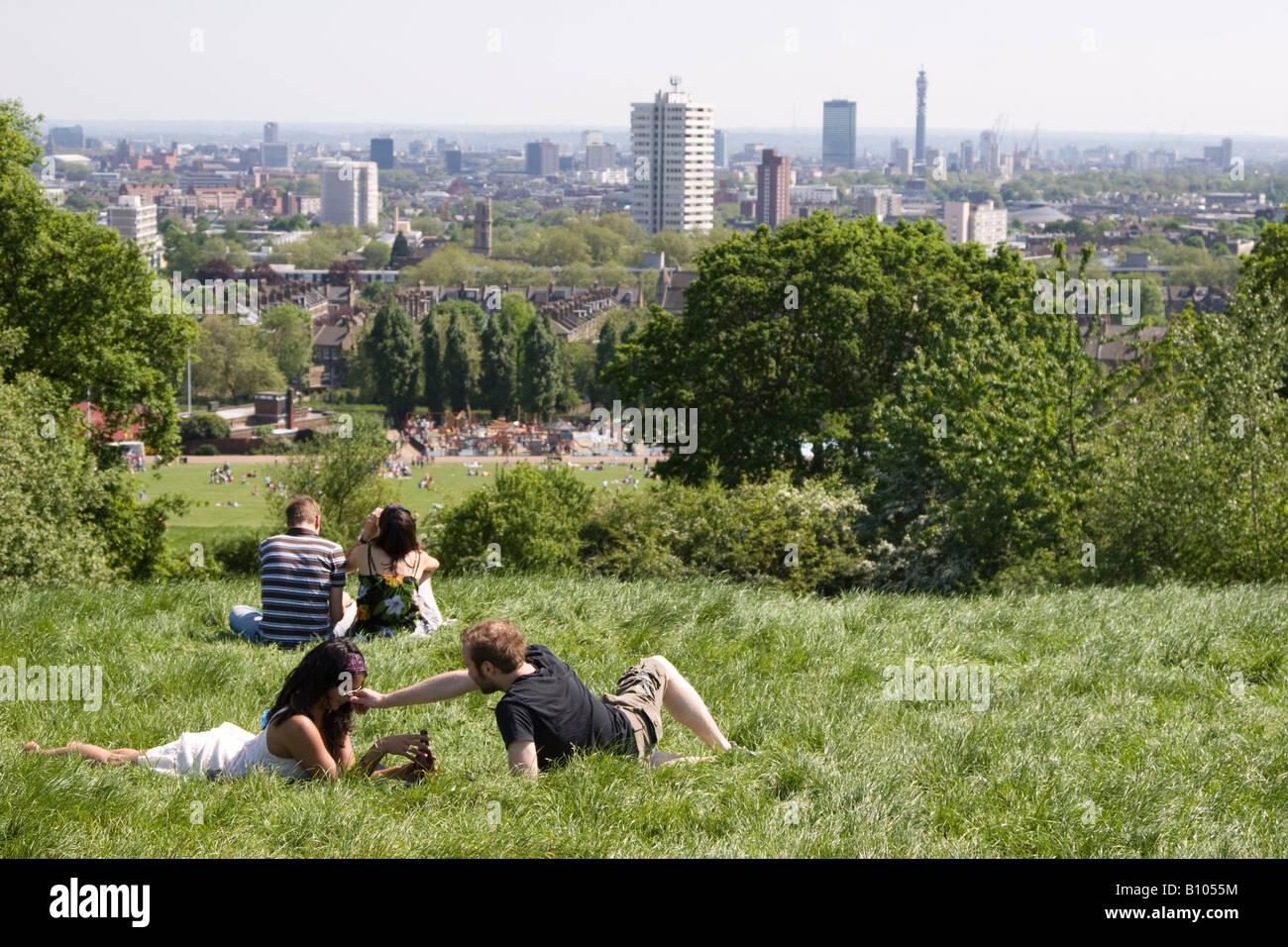 Parliament Hill - Hampstead Heath - Camden - London - Stock Image