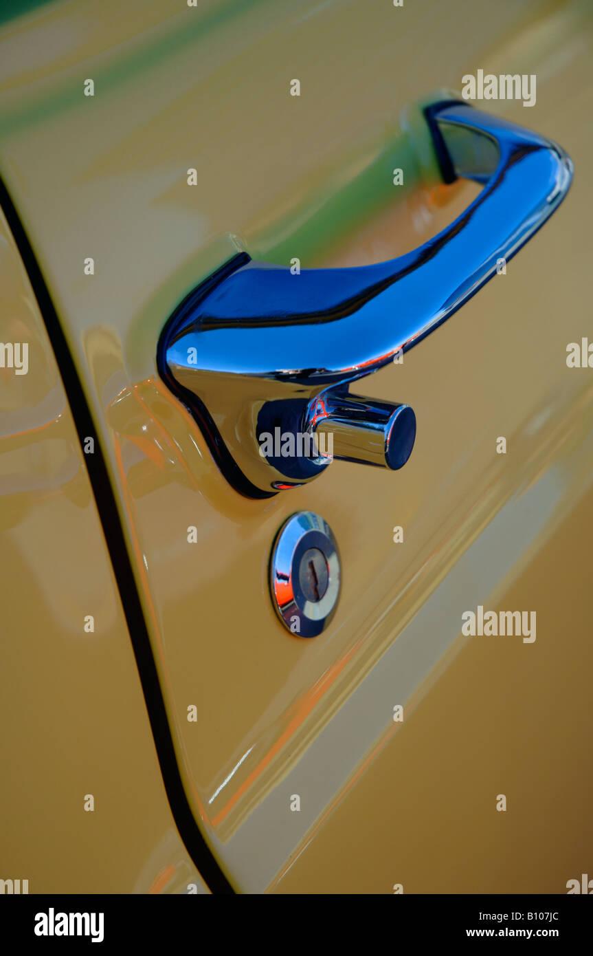 Door handle of a vehicle - Stock Image