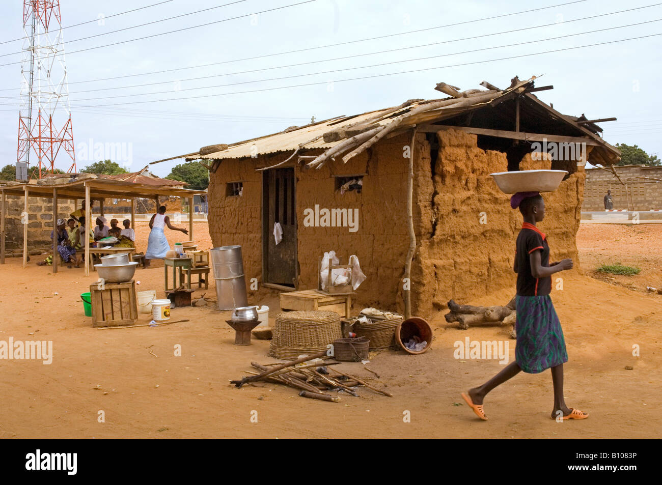 A small catering service for provision of food and drinks, Kuluedor, Ghana - Stock Image