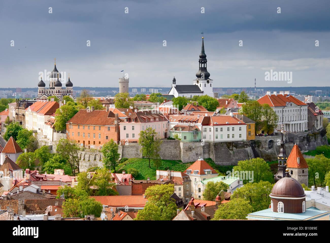 Tallinn. Toompea hill - Stock Image