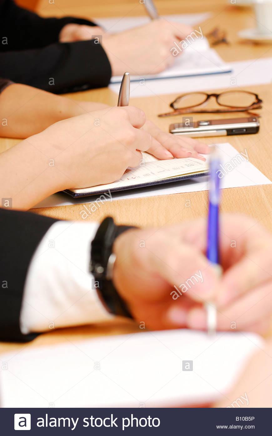 Writting Notes - Stock Image