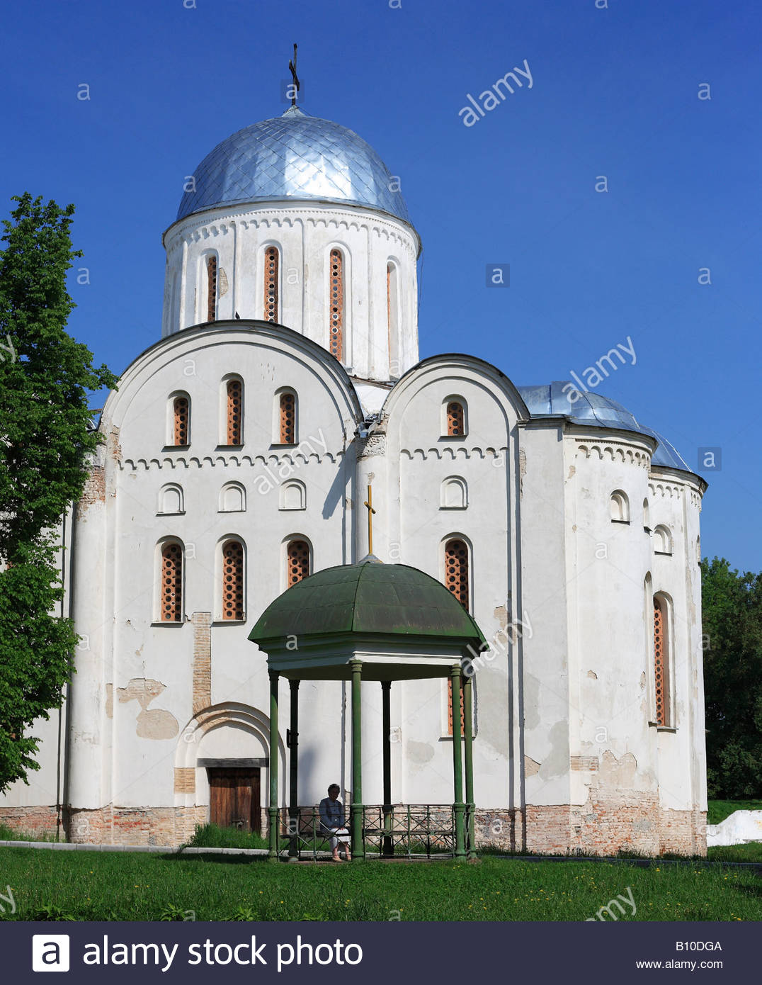 Cathedral of St. Boris and St. Gleb (1123), Chernigov, Ukraine - Stock Image