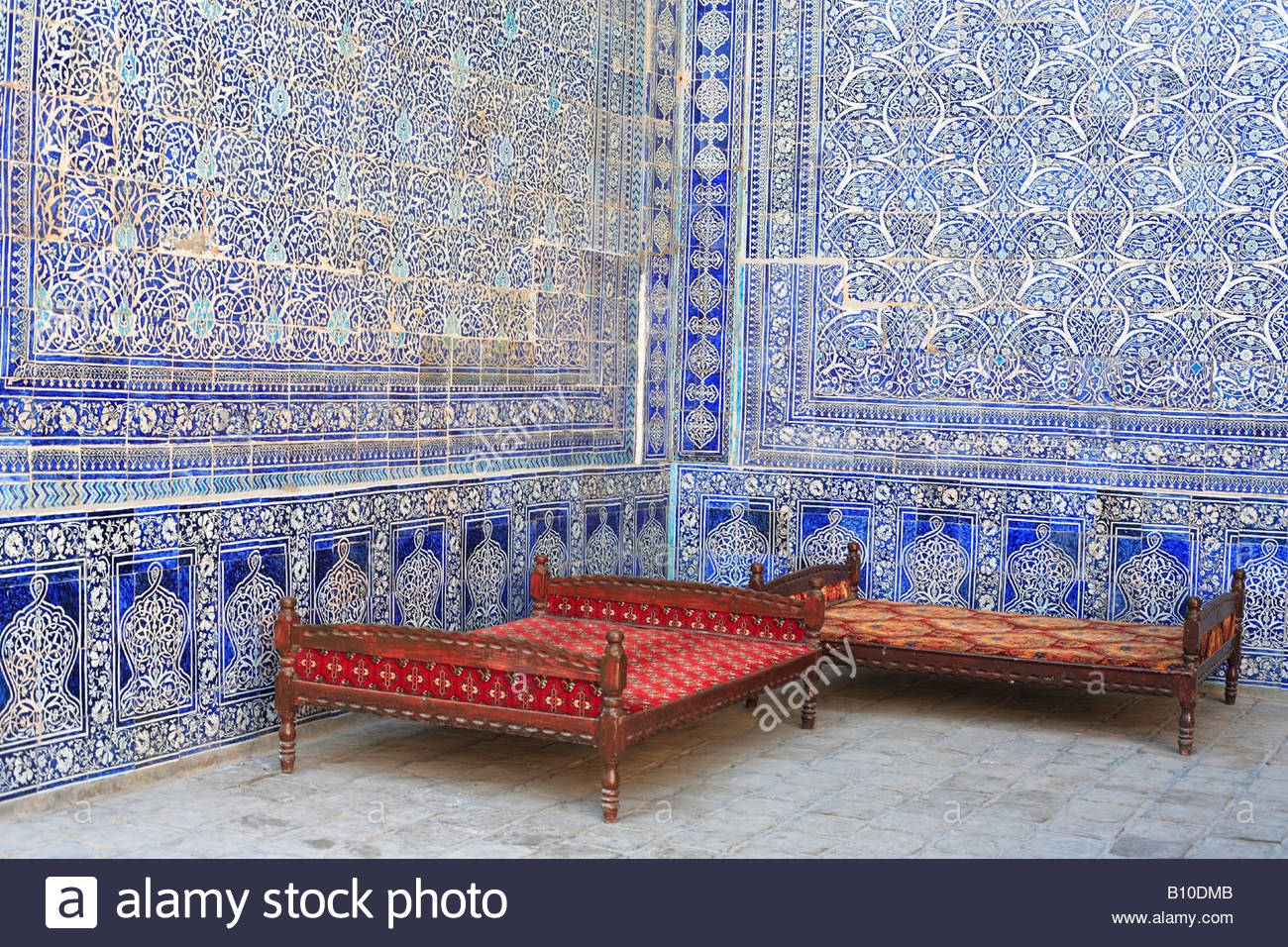Khan's Palace, Khiva, Uzbekistan Stock Photo