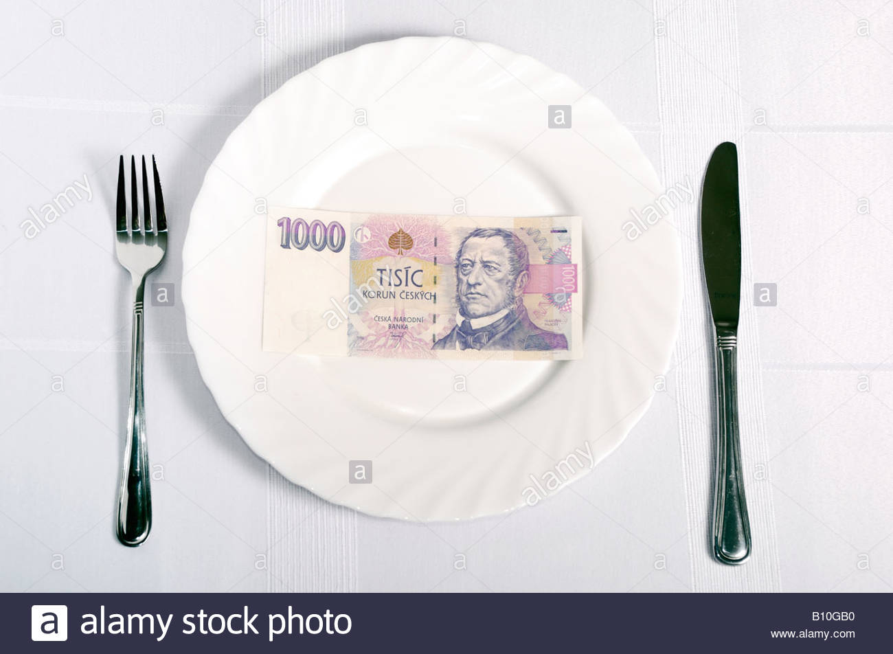 Expenditure of Food Stock Photo