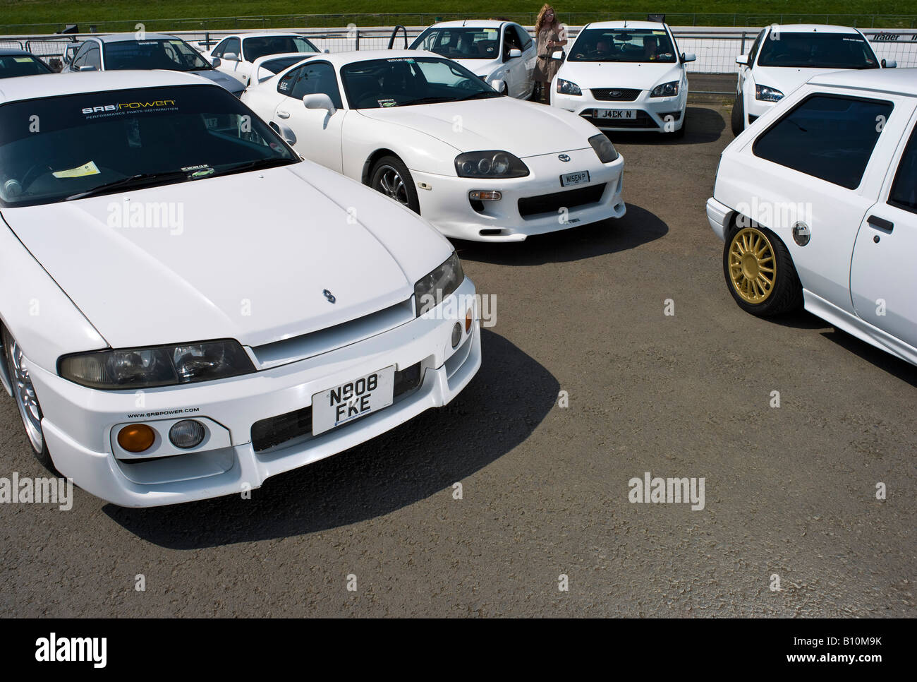 White Modified Cars At Max Power Modified Car Show Stock Photo