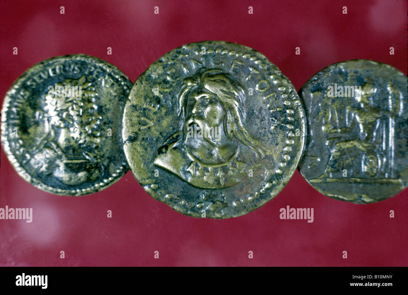 Vercingetorix coin 1st cent BC France Copyright Ancient Art Architecture Collection Ltd - Stock Image