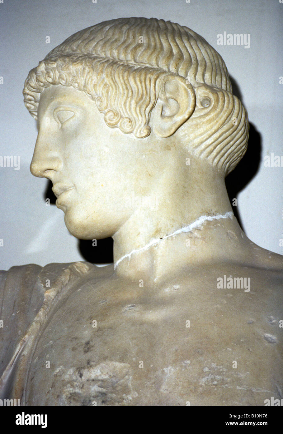 Apollo from Olympia Temple of Zeus 5th c BC Greece - Stock Image
