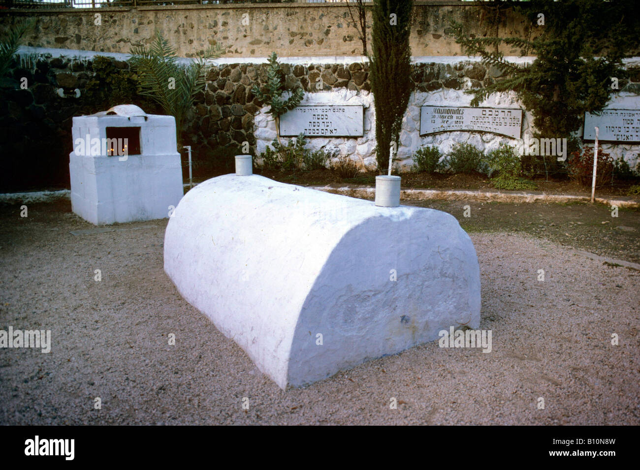 Tomb of Maimonides 1135 1204 Israel  Copyrithg: Ancient Art Architecture Collection Ltd - Stock Image