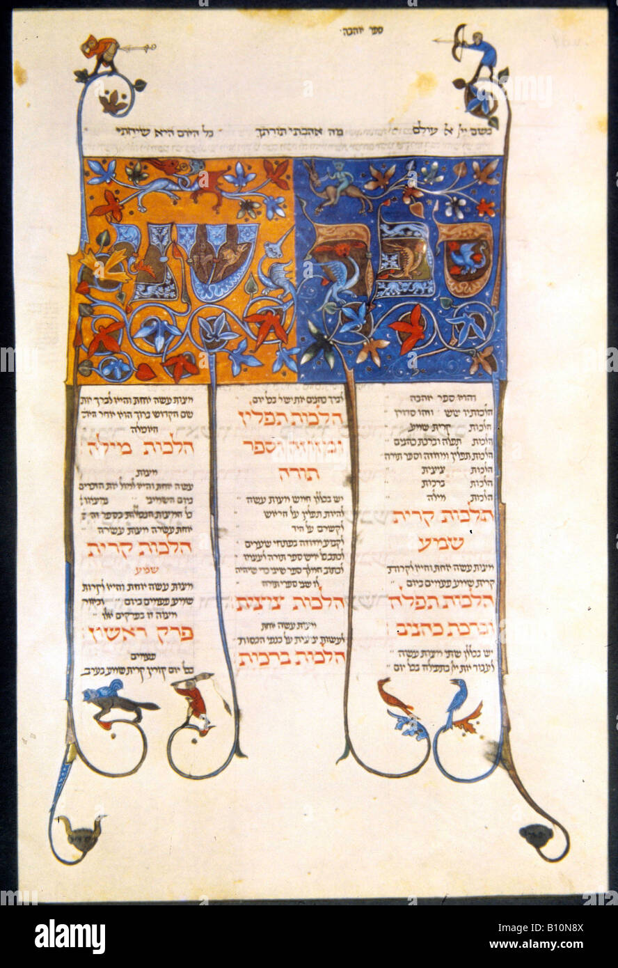 Mishneh Torah of Maimonides Book of Love mythological animals 1295 96 - Stock Image