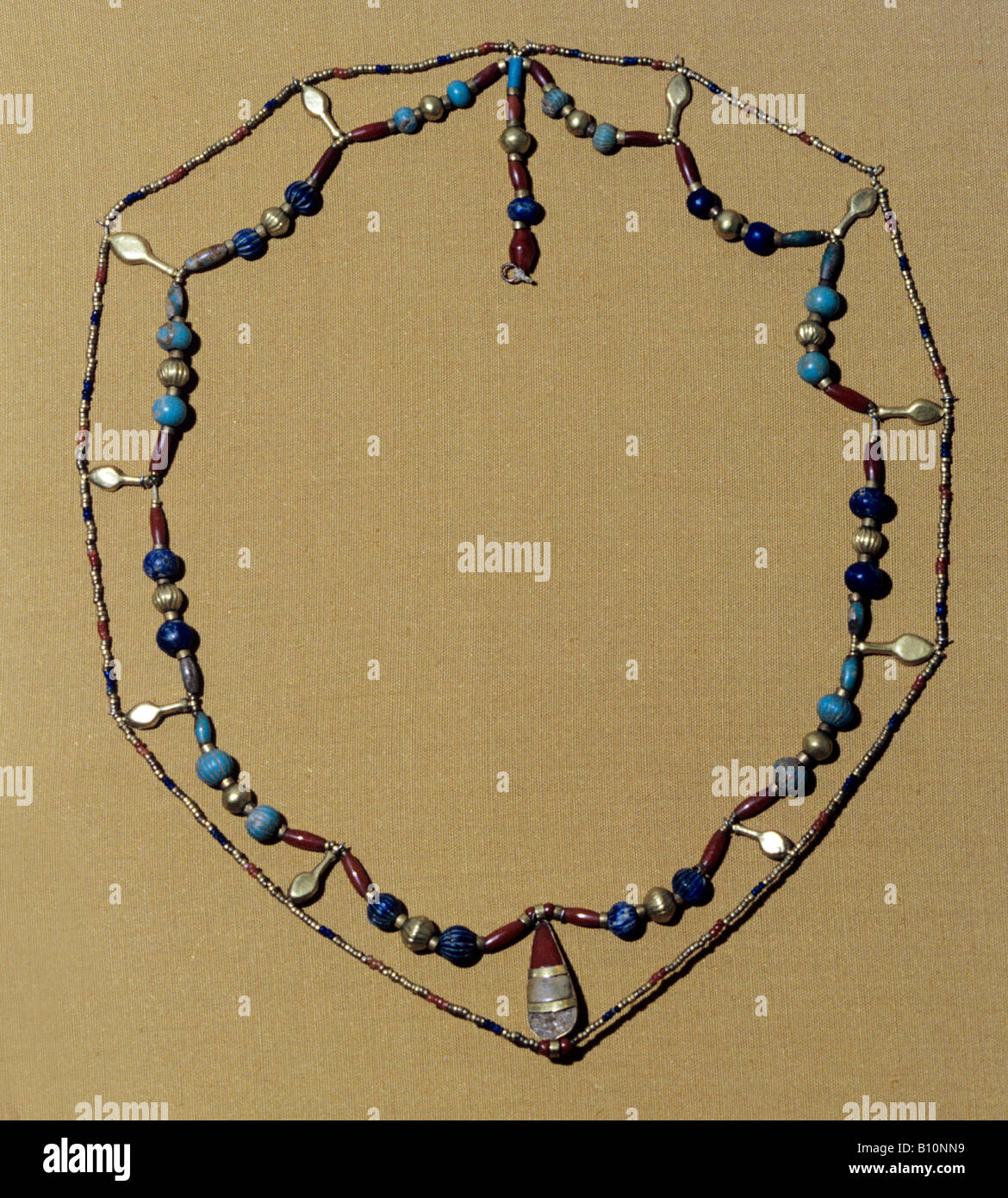 Necklace from Tomb of Three Princesses of Tuthmosis III 18th Dyn Egypt - Stock Image
