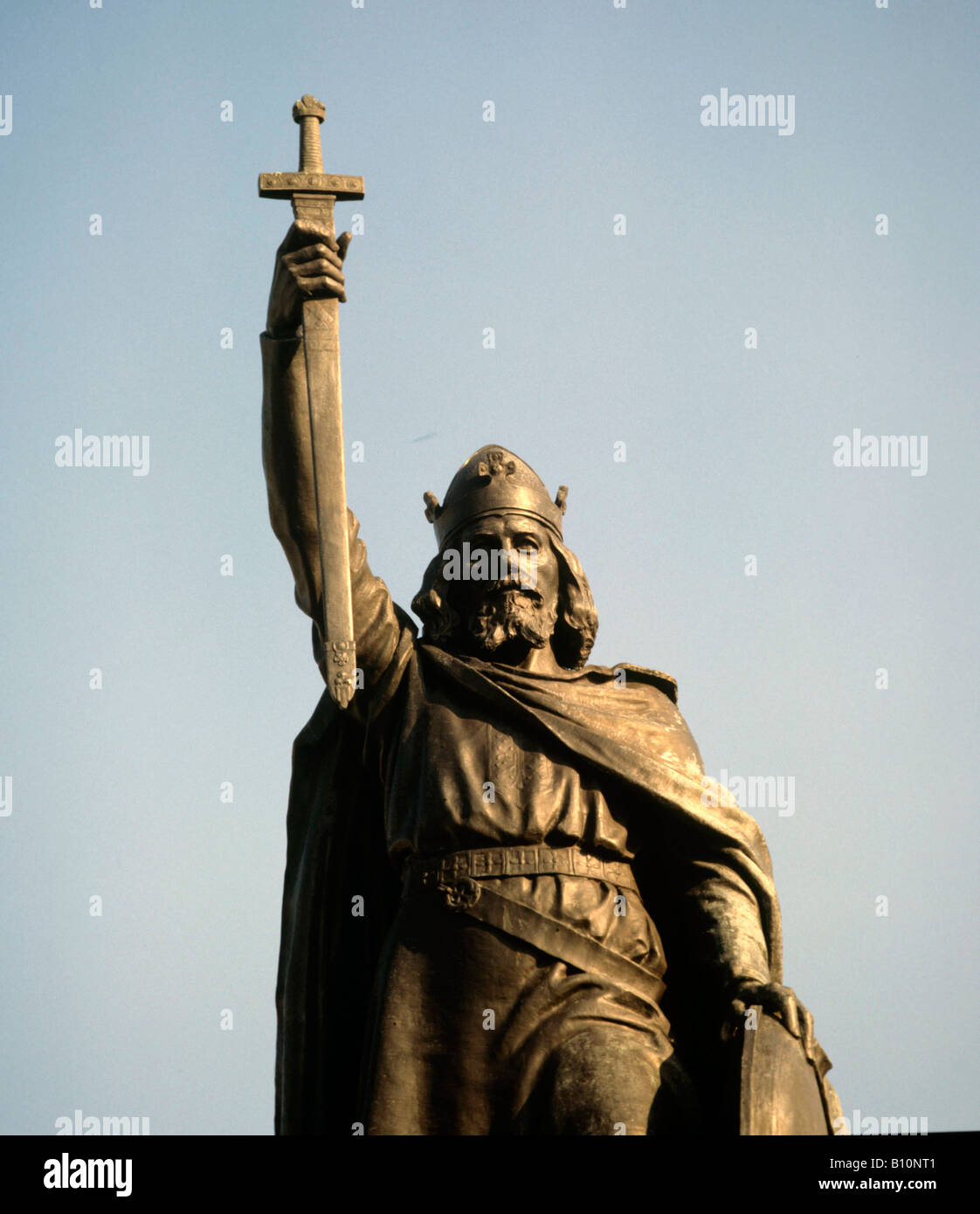 King Alfred the Great Winchester - Stock Image