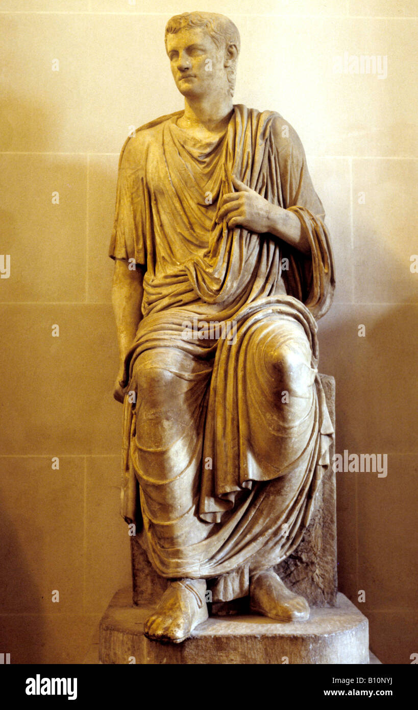 Emperor Caligula statue - Stock Image