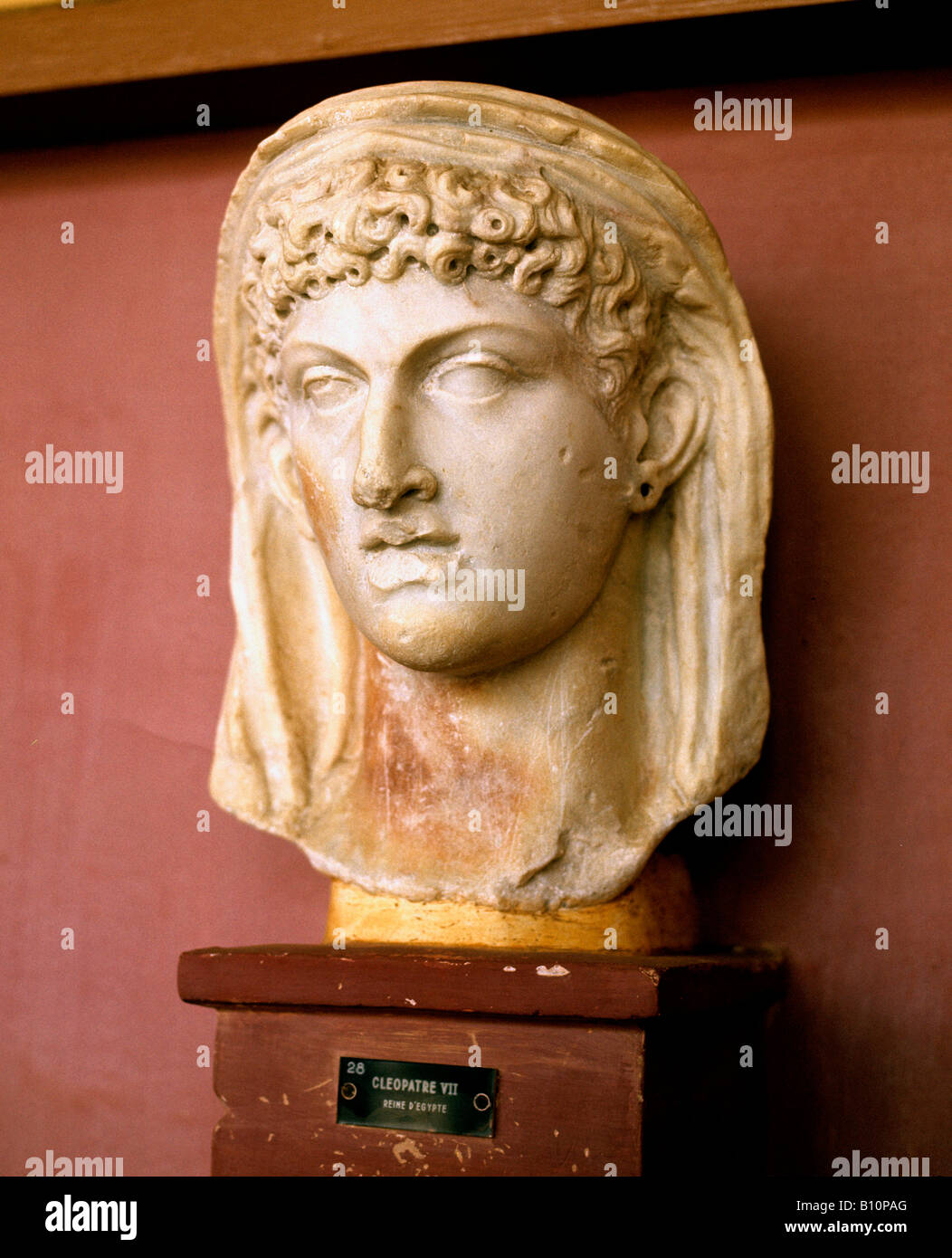 Cleopatra life portrait given to Juba II Algeria. Cherchell Museum. Algeria Stock Photo
