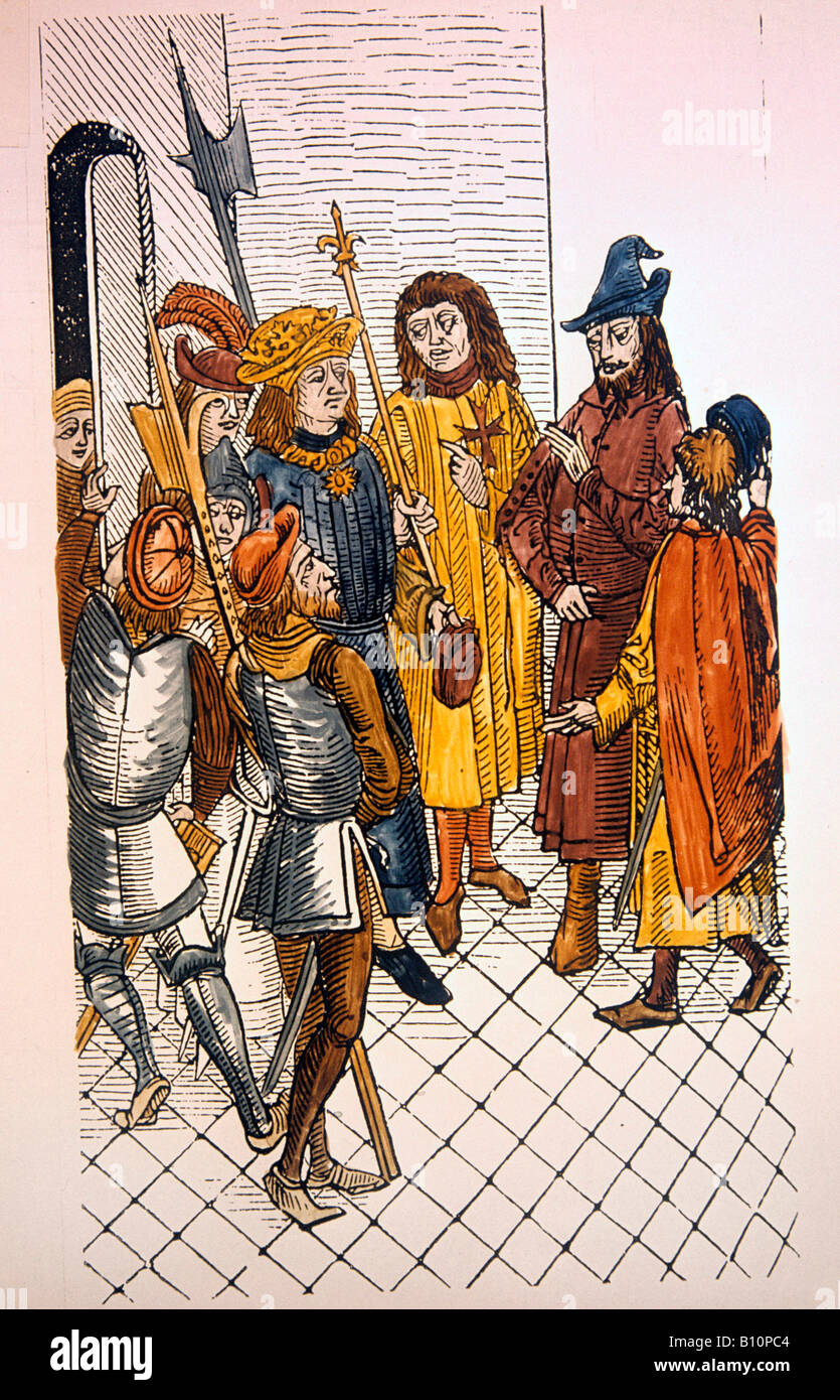Rhodes siege 1481 Charles VIII of France takes Zizim son of Mahomet II  Crusades Copyright AAAC Ltd