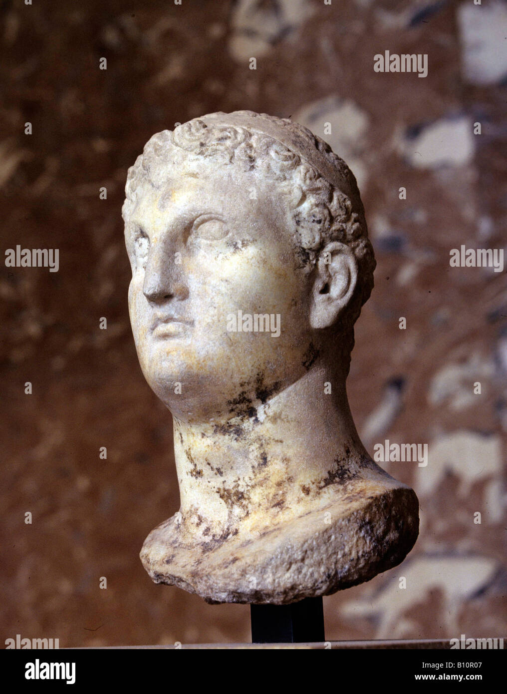 Bust of Ptolemy II of Egypt 2C BC Copyright - Stock Image