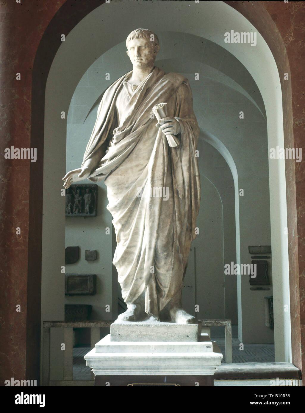 Augustus Roman emperor Statue Italy - Stock Image