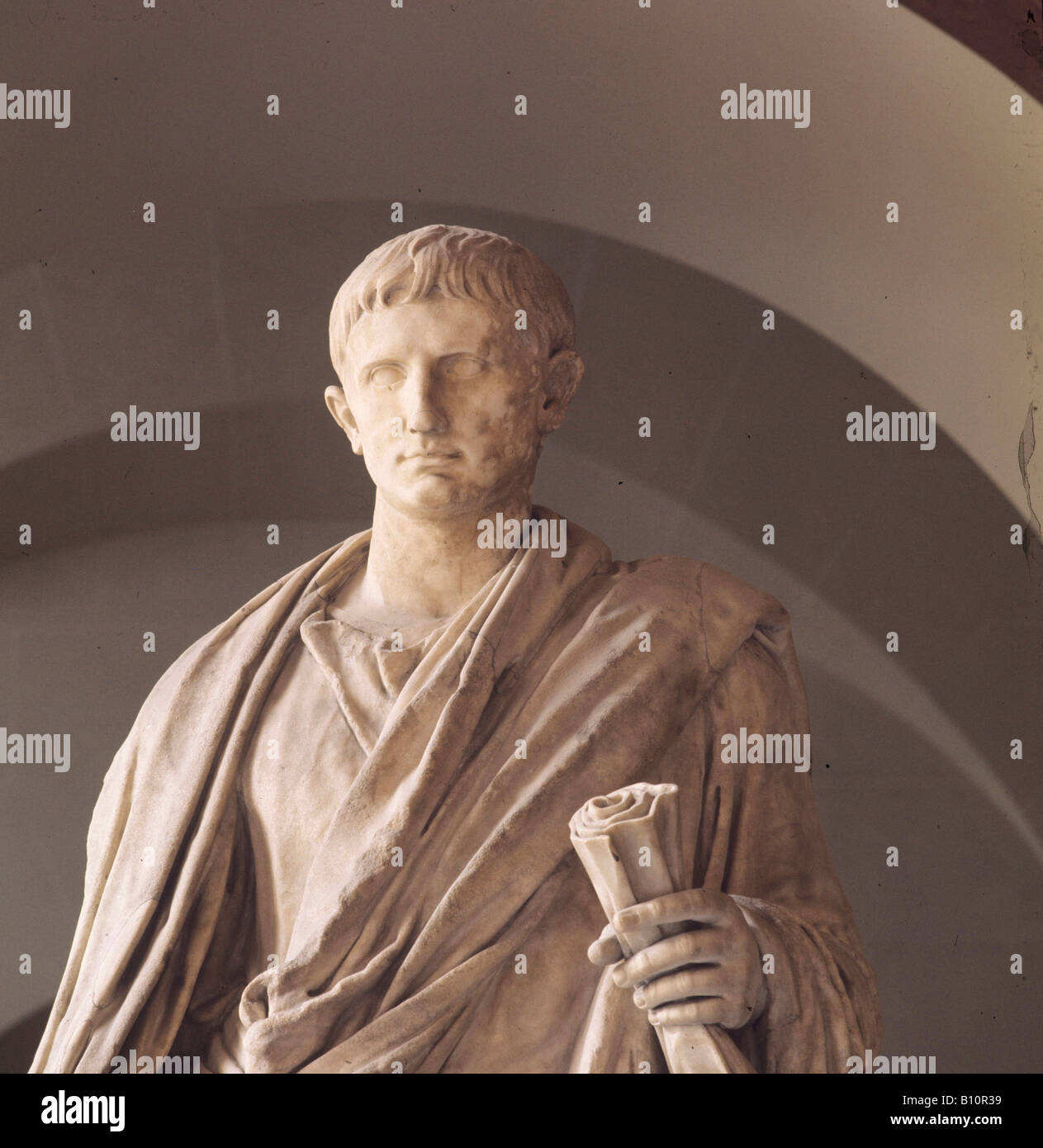 Augustus, 63 BC - 14 AD. Roman Emperor after 27 BC. - Stock Image