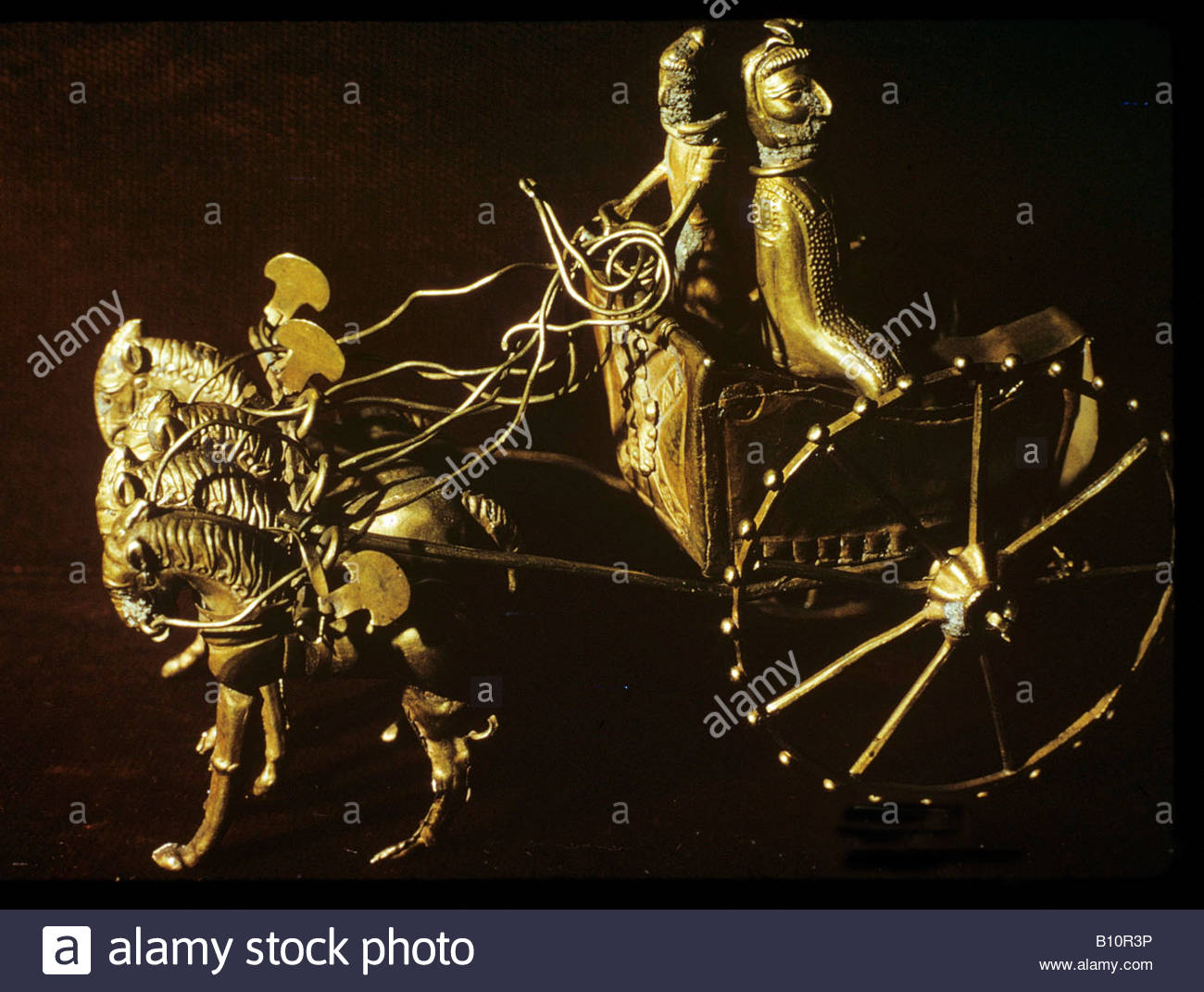 Oxus Treasure gold Persian chariot 5th 4th c BC Iran Copyright AAA Collection - Stock Image