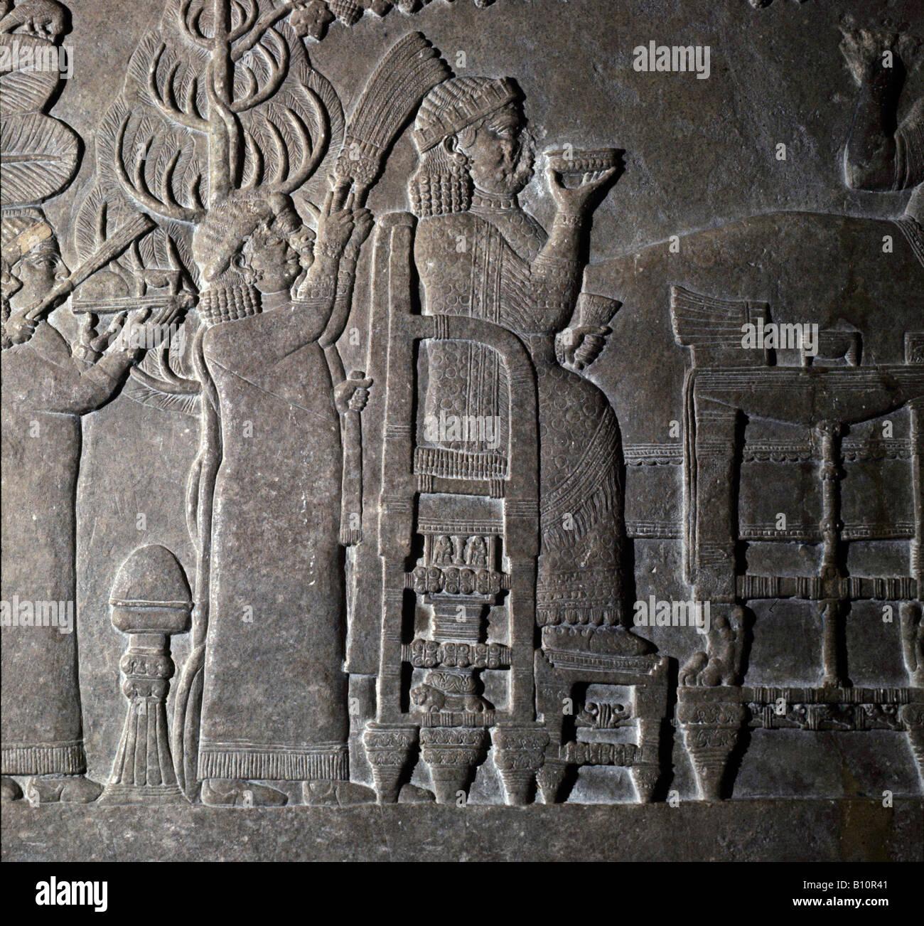 Queen Ashur Sharrat Nineva 7th cent B C  Copyright Ancient Art Architecture Collection Ltd - Stock Image
