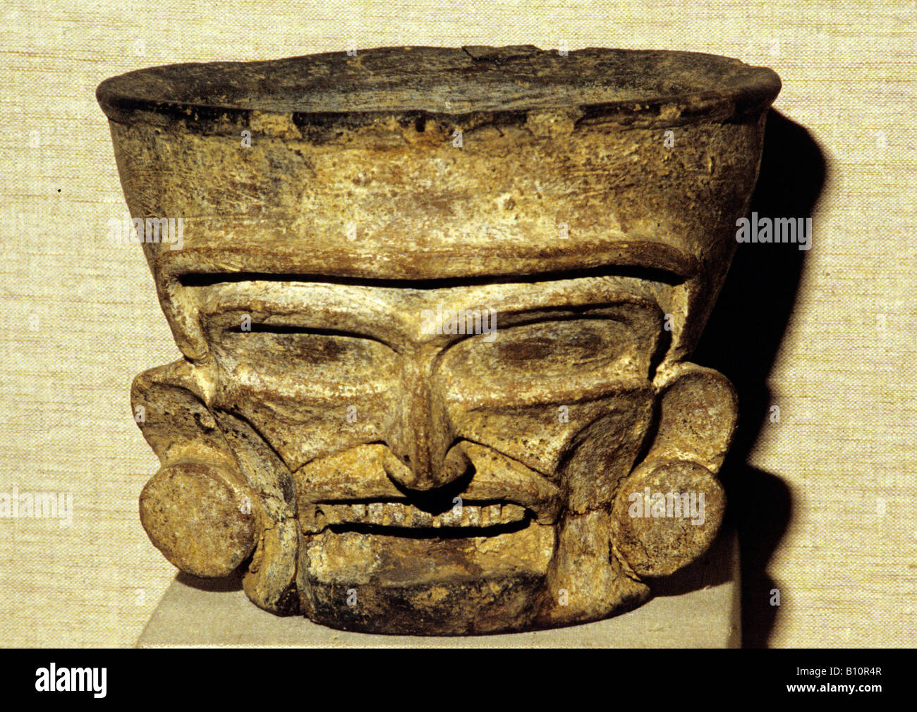 Aztec god Huehueteotl from Quetzaltepeque Mexico  Copyright: AAA Collection Ltd - Stock Image