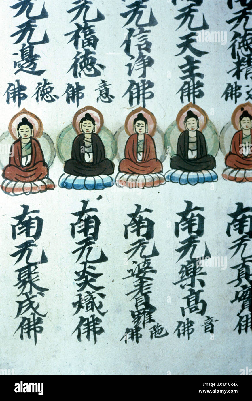 Sutra of Buddhist names Dunhuang 10th c China Copyright: AAA