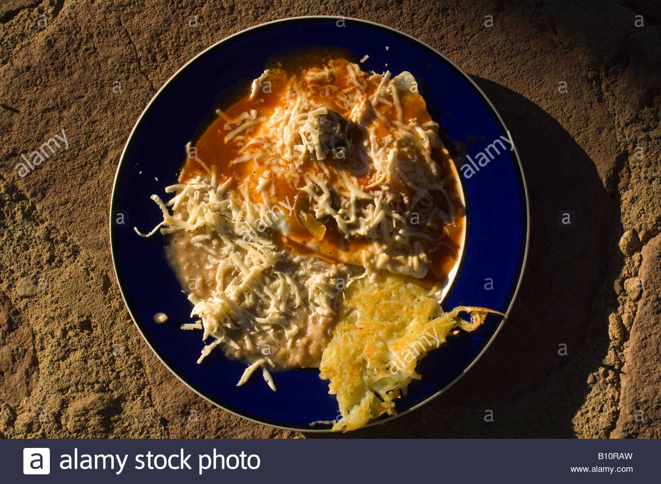 Huevos rancheros Porochi Inn Urique Canyon Copper Canyon Mexico - Stock Image