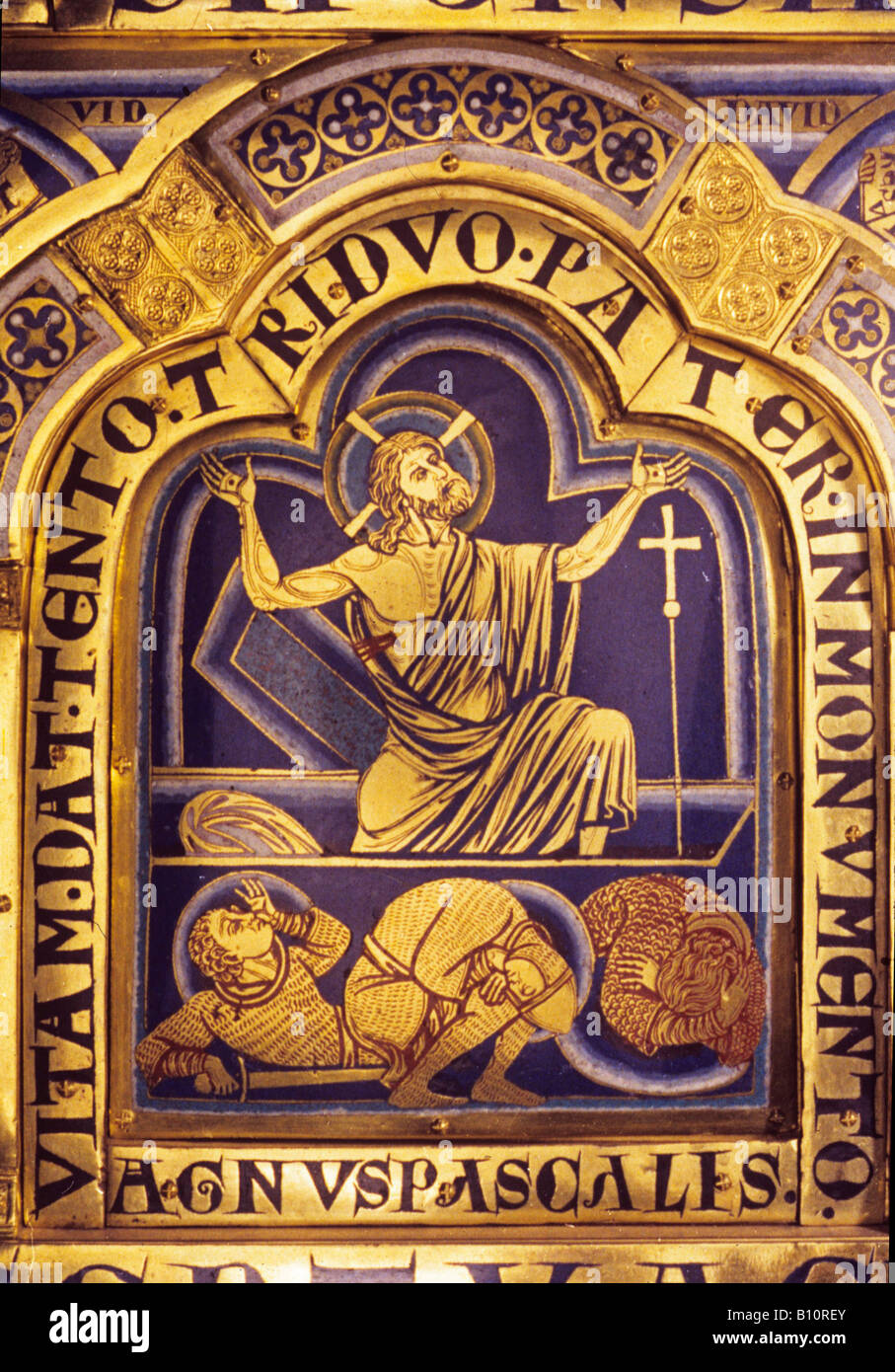 Resurrection The Verduner Altar 12th c Klosterneuberg Convent Austria  Copyright: AAA Collection Ltd - Stock Image