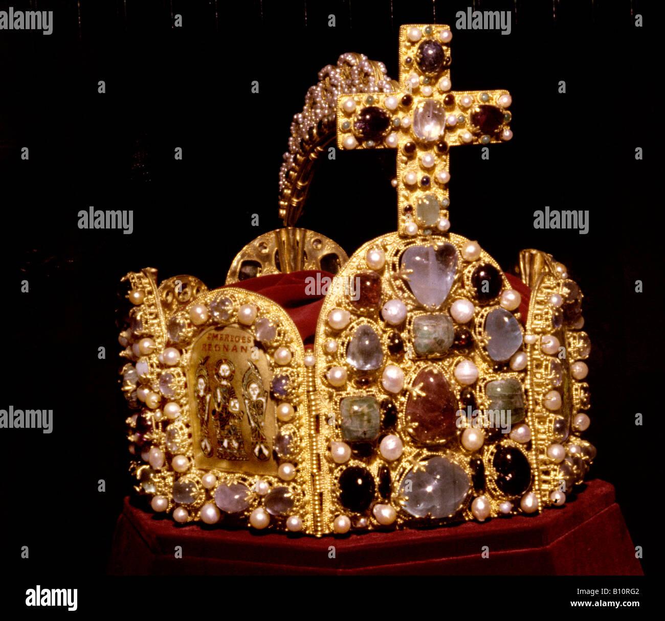 Crown of the Holy Roman Empire of Otto I 962 AD Germany  Copyright AAAC Ltd - Stock Image