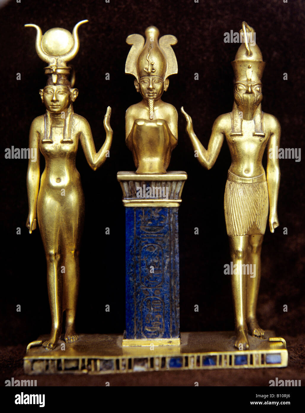 Horus Osiris Isis jewel of King Osorkon 950 BC Ancient Egypt. - Stock Image