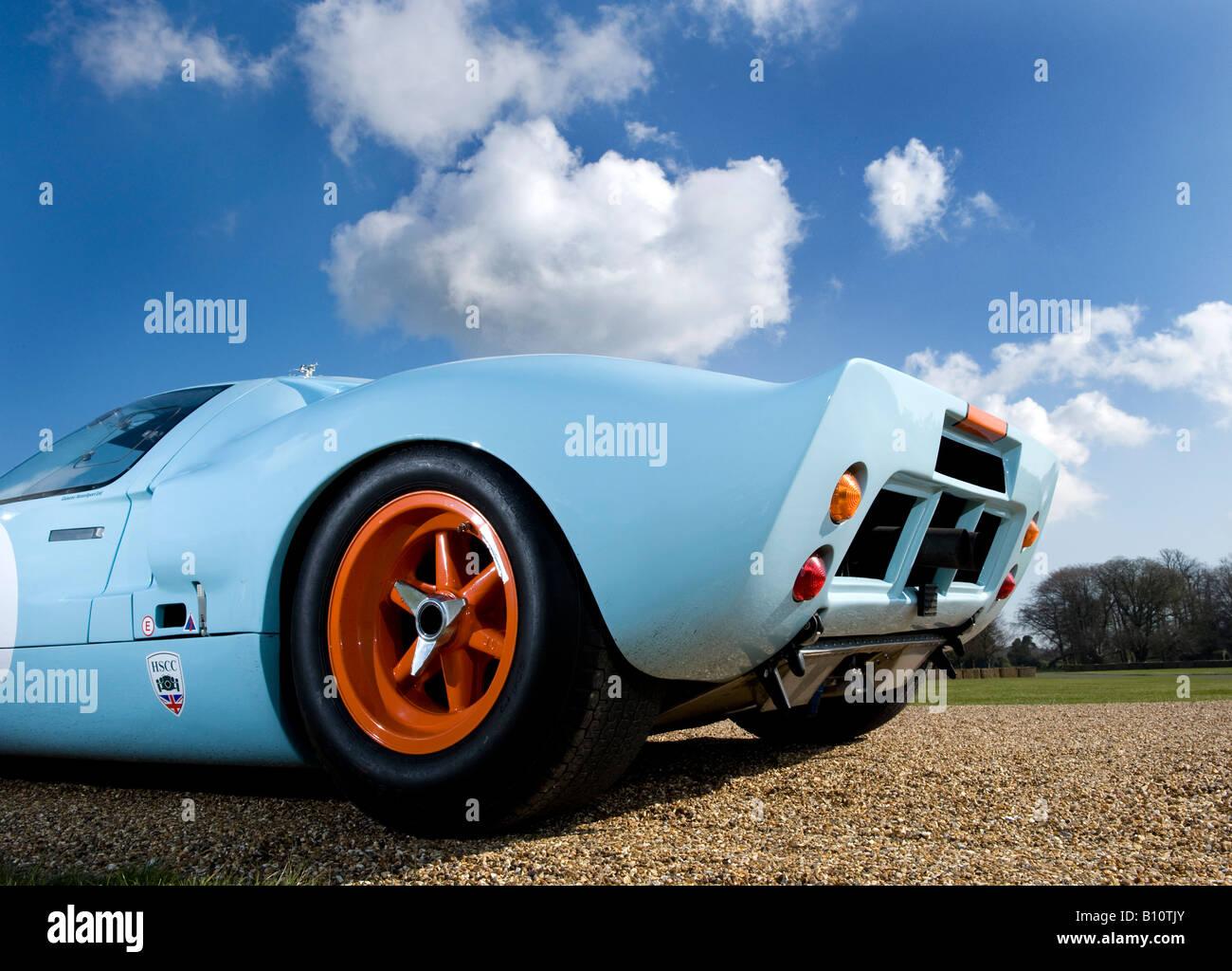 Ford Gt Gt Le Mans Racing Car Auto Gulf Engine Orange Blue