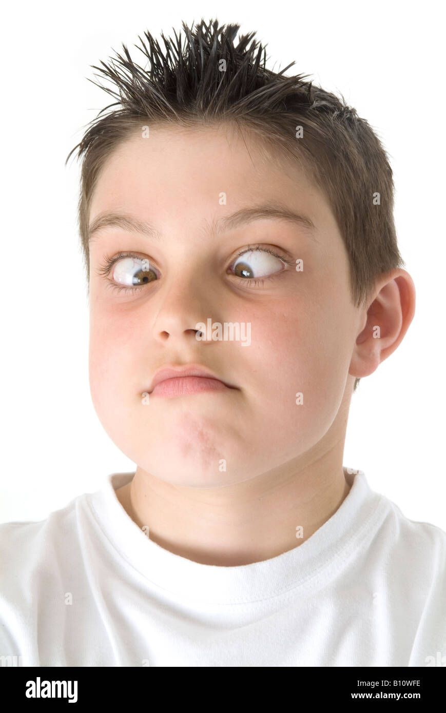 going crosseyed cross eyed boy child kid funny face fun