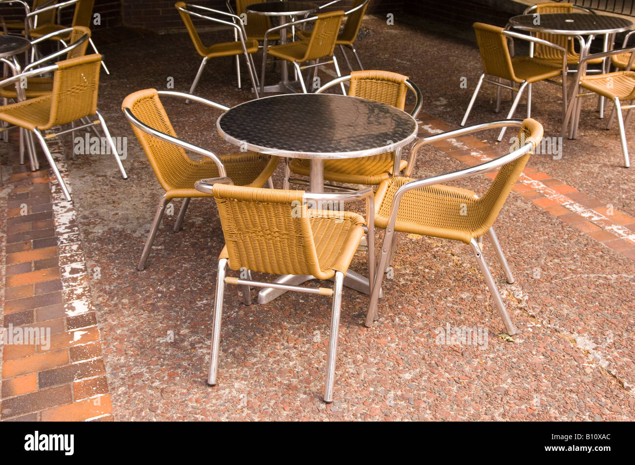 Tables and chairs outside Coffee shop London Great Britain UK & Tables and chairs outside Coffee shop London Great Britain UK Stock ...